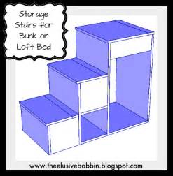 Bunk Bed Plans With Stairs The Elusive Bobbin Free Storage Stairs Plans For A Loft Bed