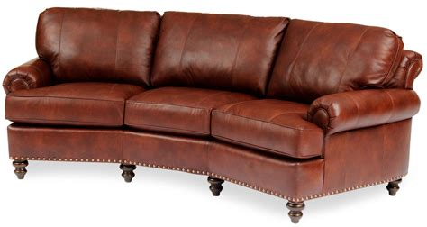 conversation sofa leather conversational sofa with nailhead trim by smith