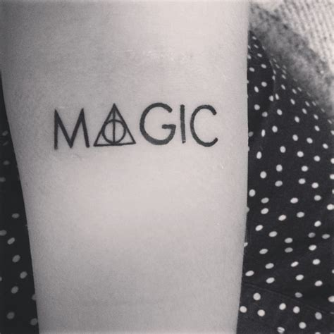 magical tattoos harry potter deathly hallows tattoos