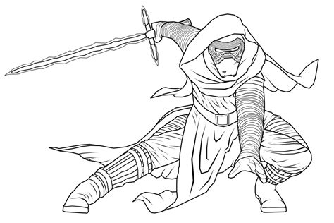 coloring pages kylo ren star wars kylo ren coloring pages online star best free