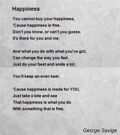 poem images happiness poem by george savige poem comments