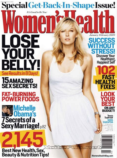 Health Getting Back In Shape In 2007 by Sharapova Back In Shape Magazine Photo Shoot