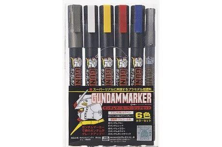 Gundam Marker Basic Set Murah mr hobby gundam marker basic set of 6 gms 105 up scale hobbies