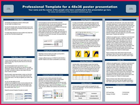 28 48 By 36 Poster Template Exiucu Biz Poster Presentation Template 36 X 48