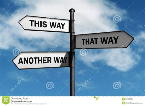 Doing Options The Right Way 2 by Which Way To Go Stock Photo Image Of