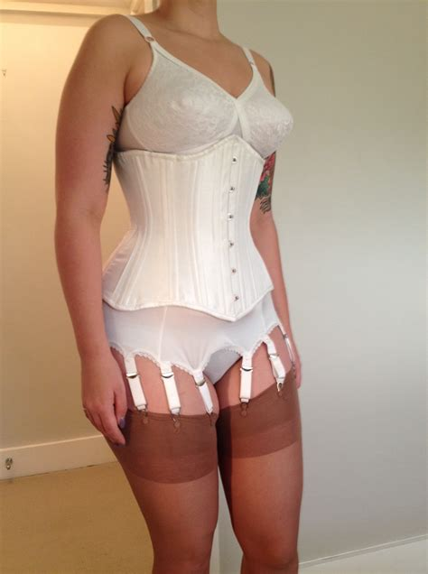 girdle and nylons loosen up your corset and have a drink corset week day