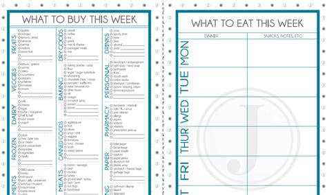 menu planning template with grocery list weekly meal planner template free new calendar template site
