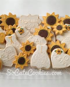 sunflower bridal shower so cookies