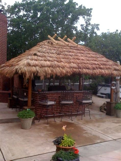 hut diy build bamboo tiki bar woodworking projects plans