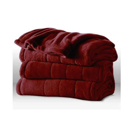 heated blanket sunbeam channeled microplush electric heated blanket king size ebay