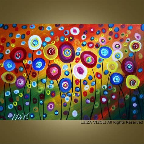 modern painting ideas custom dancing poppies original modern abstract by