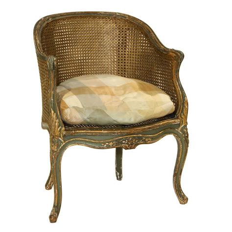 cane back armchair louis xv painted double cane back corner chair at 1stdibs