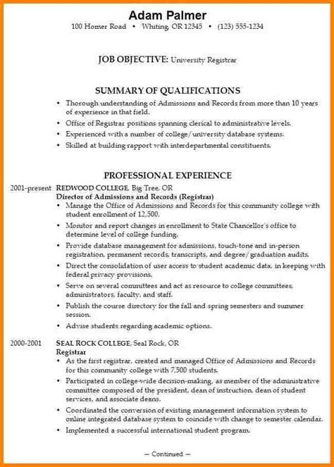 Student Resume Exles For College Admission 8 Resume Format For College Applications Inventory Count Sheet