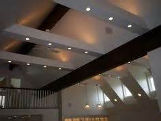Canned Lights In Ceiling With One Side Angled - vaulted beam ceiling with recessed lights search