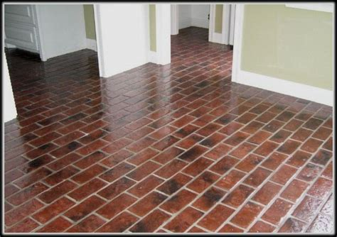 Brick Kitchen Floor Glossy Brick For Kitchen Floor This House Is Beautiful