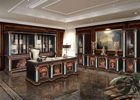 scrivanie di lusso scrivania intarsiata per ufficio classico di lusso idfdesign