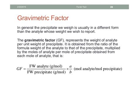 gravimetric analysis lab report sle gravimetric analysis
