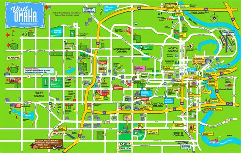 omaha map omaha hotels and sightseeings map