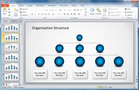 template bagan organisasi terbaik untuk powerpoint