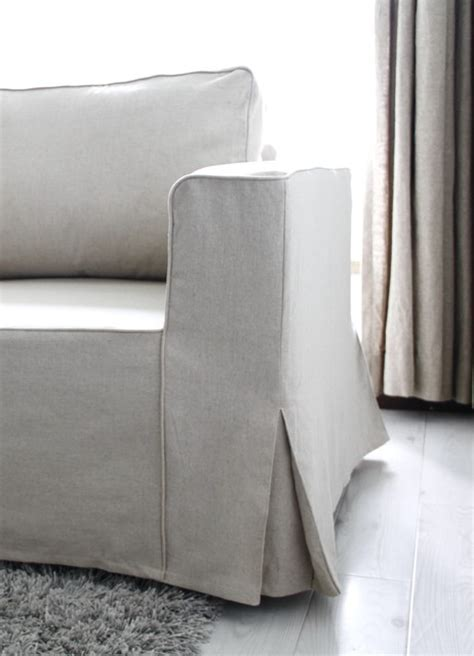 Ikea Manstad Sofa Bed Custom Linen Slipcovers