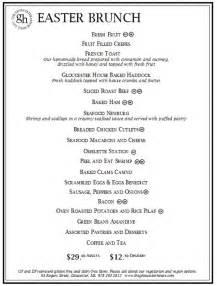 menu for brunch easter brunch at the gloucester house the gloucester house