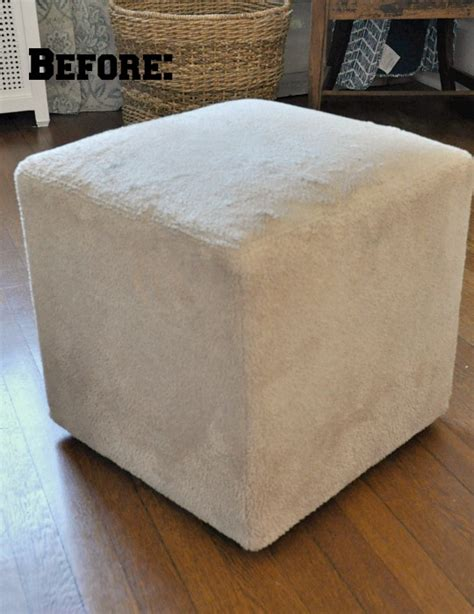 how to cover an ottoman how to slipcover an ottoman teeny ideas