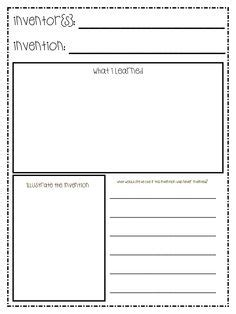 Inventors Report Template Second Grade 1000 Images About On