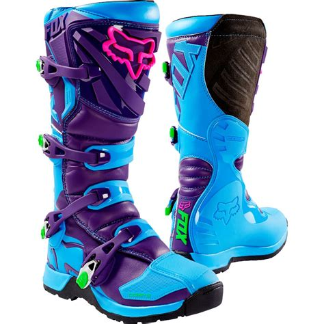 fox motocross boots fox 2016 le comp 5 blue purple boots mxstore picks
