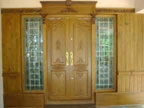 home door design kerala latest kerala model wooden double doors designs gallery