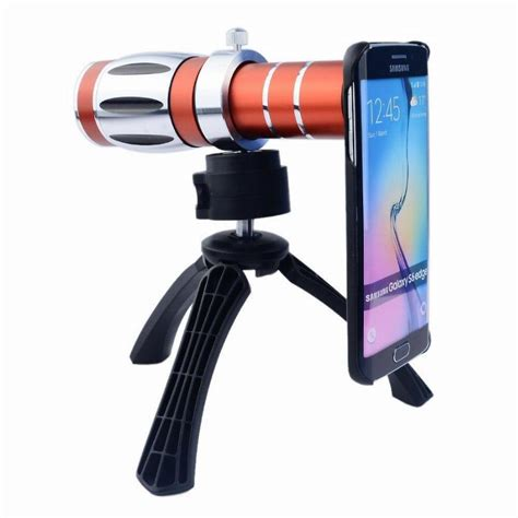 orbmart aluminum 12x optical zoom telescope lens for iphone 6 plus 6s plus 5 5 inch