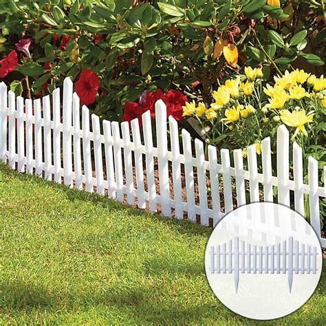 kct white picket fence garden border pack   panels