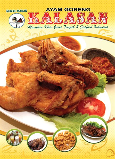 brosur ayam kalasan hal  info kuliner