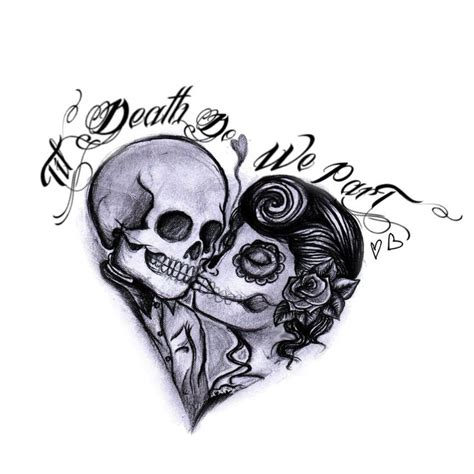 matching skull tattoos forever always husband matching wedding