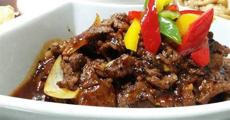 sapi lada hitam masakan sapi santi catering