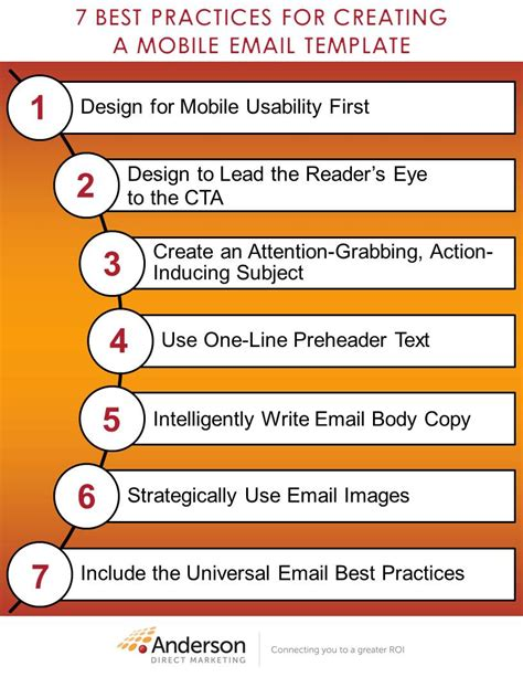 7 best practices for creating a mobile email template