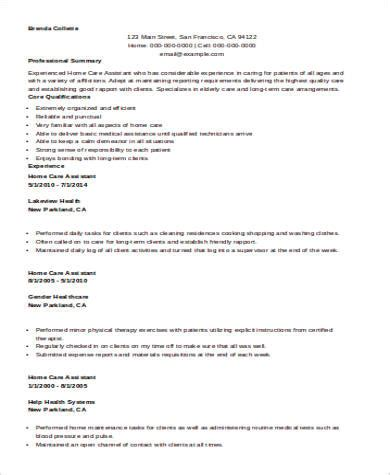 Nursing Assistant Resume Template Microsoft Word Sle Nursing Assistant Resume 8 Exles In Word Pdf