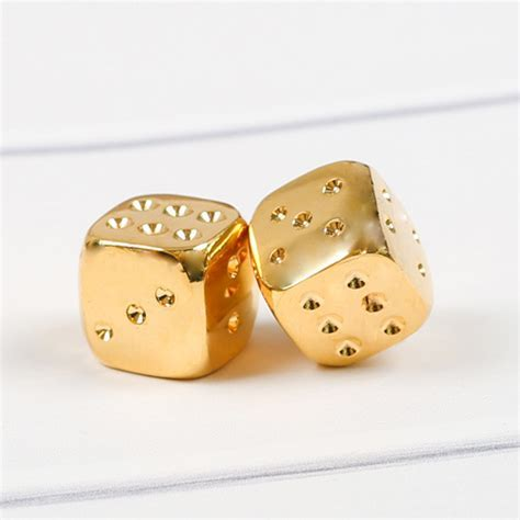 LUXURY GOLD PLATED PLAYING DICE