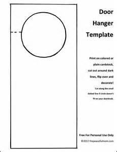 Templates For Door Hangers by 25 Best Ideas About Door Hanger Template On