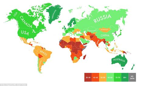 how the world map has changed the best and worst places to live as our planet warms up
