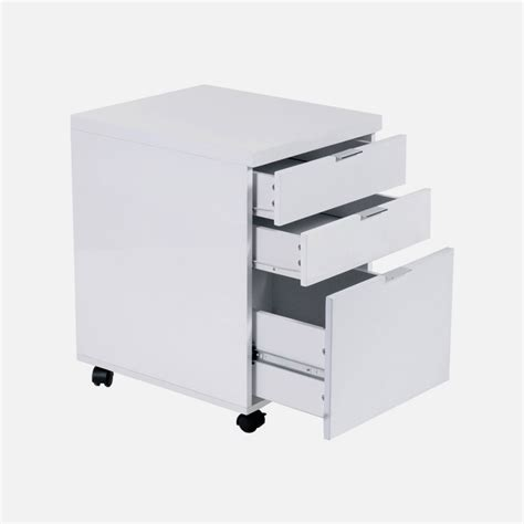 gilbert file cabinet in white lacquer chrome office