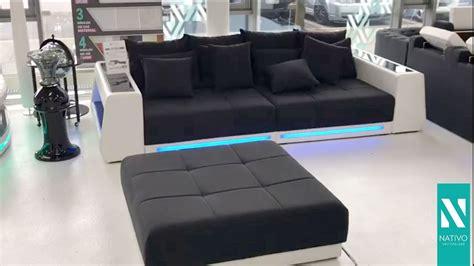 big sofa mit led nativo m 246 bel schweiz big sofa vice mit led beleuchtung