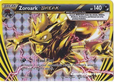 printable pokemon cards xy pokemon card zoroark break 92 162 rare xy break through