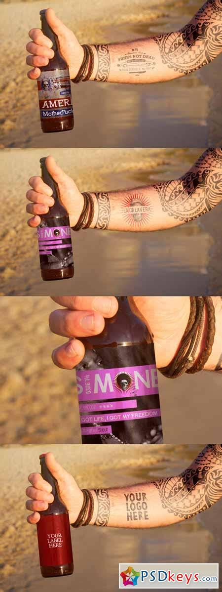 tattoo mockup psd beer bottle tattoo mockup 330971 187 free download photoshop