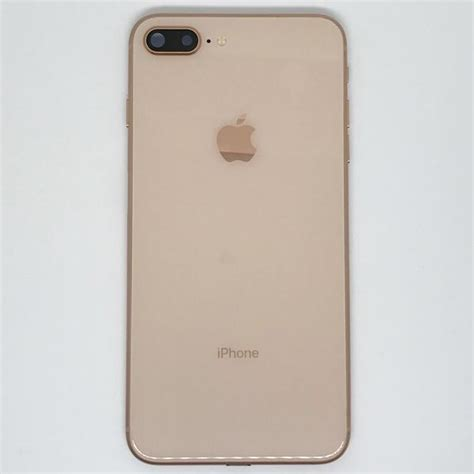 apple iphone 8 plus back cover gold mobile parts
