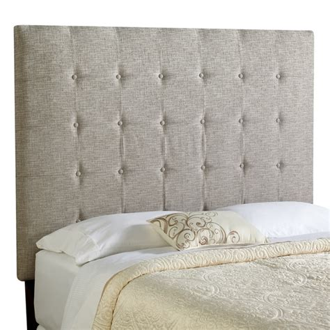 tall tufted headboard queen humble haute stratton tall queen ash grey upholstered
