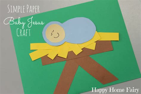 simple paper baby jesus craft happy home