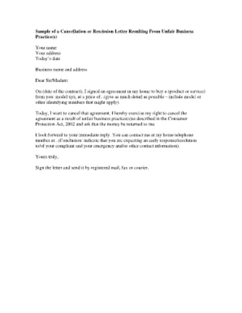 cancellation letter for timeshare contract sle letter of cancellation contract for timeshare