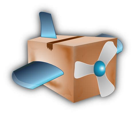 Flying Box by Flying Airplane Box Clip At Clker Vector Clip