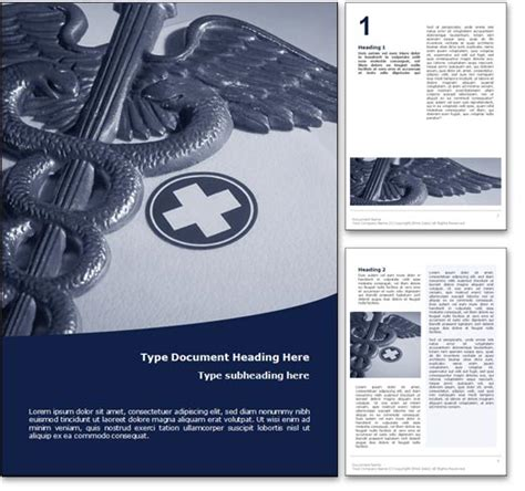 word templates for healthcare royalty free medicine microsoft word template in blue