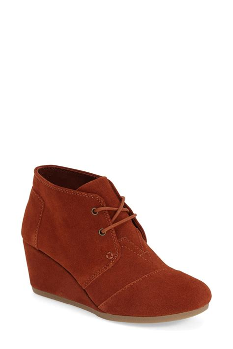 Rack Toms by Toms Desert Chukka Wedge Bootie Nordstrom Rack